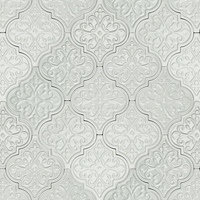 Ivy Hill Tile Vintage Florid Lantern Light Blue 6 1 4 In X 7 1 4 In X 10 Mm Ceramic Wall Mosaic Tile 30 Pieces 4 8 Sq Ft Box Ext3rd104637 Arabesque Tile Ceramic Wall Tiles Lantern Tile