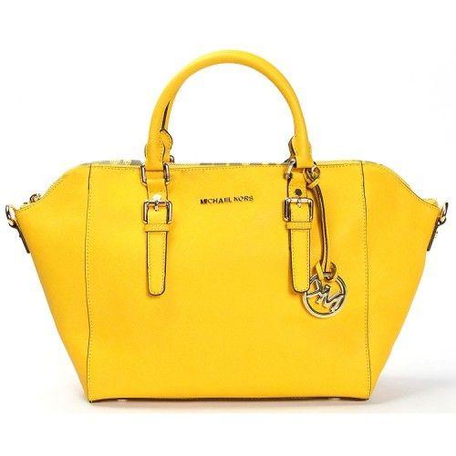 Michael Kors Astor Large Satchel Handbag Yellow   Handbags ...