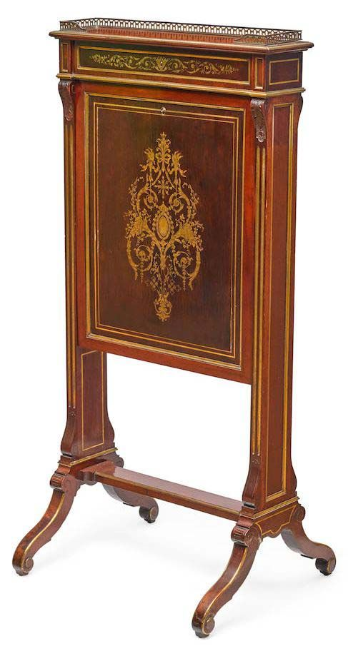 A Very Fine French 19th Century Louis XIV Style Mahogany and Brass