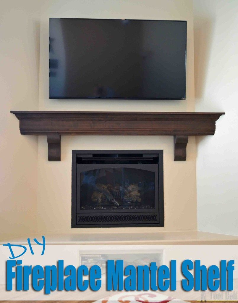 Create That Room Focal Point You Ve Been Dreaming About Diy Fireplace Mantel Shelf For 210 In Knotty Alder