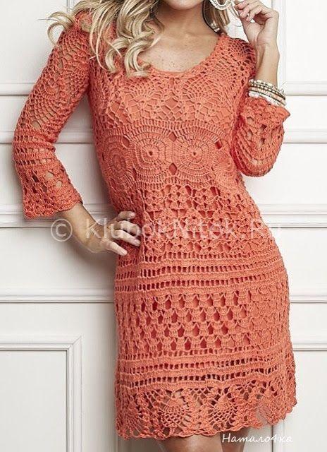 Little Treasures: 4 Fall Crochet Dresses - free charts ...