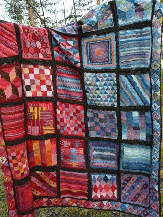 knitted quilt future knit crochet projects pinterest stricken h keln und decke stricken. Black Bedroom Furniture Sets. Home Design Ideas