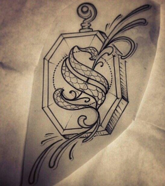 Salazar Slytherin S Locket Tattoo My Heart Tatouage