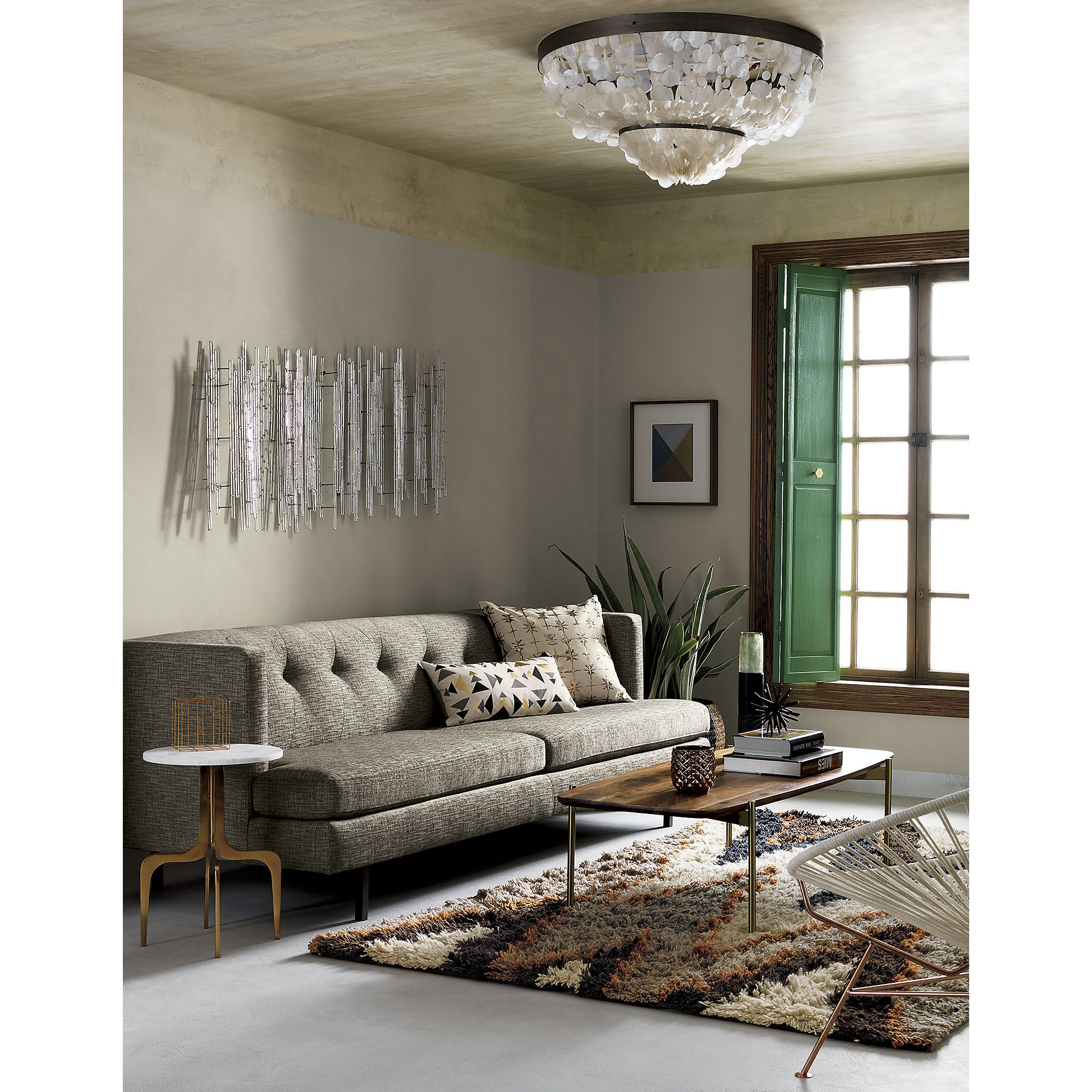Adam Coffee Table Living Room Pinterest Marbles Apartments - Cb2 adam coffee table
