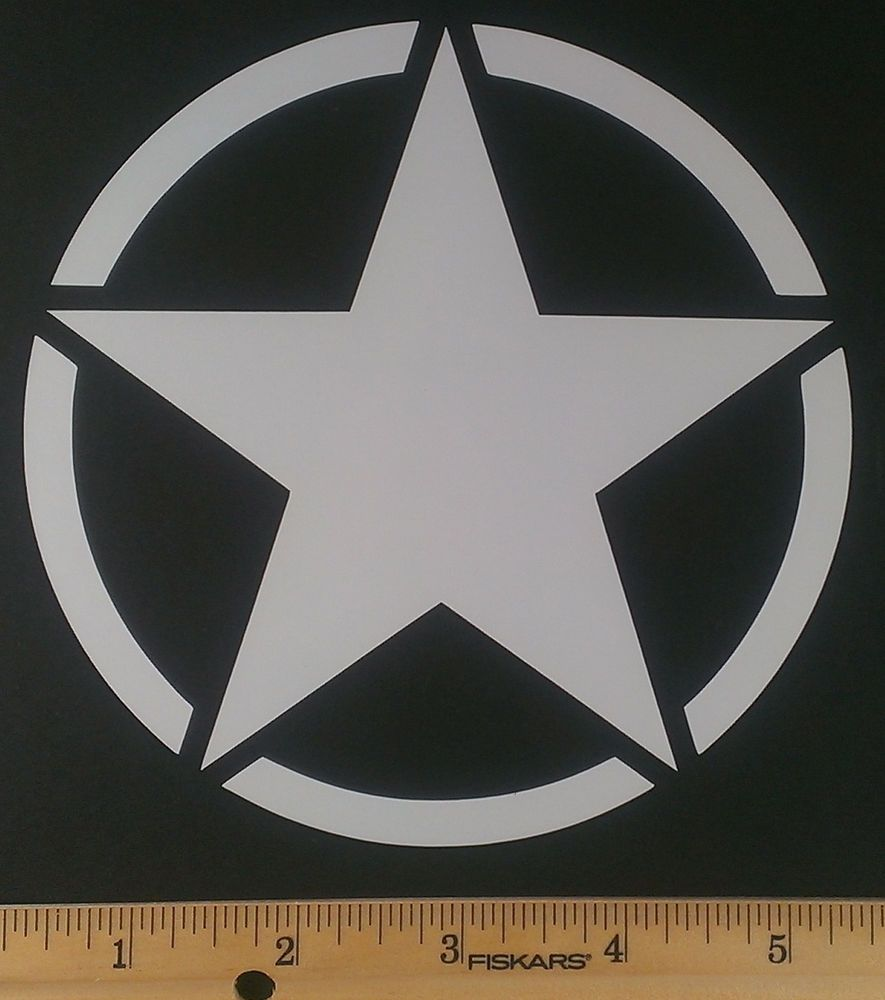 Jeep Willys Army Star Vinyl Decal/Sticker - 12 Colors. Buy ...