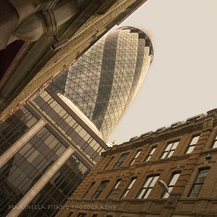 The Gherkin and the City by morettina Swiss Re building