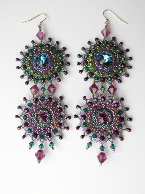 Loving these earrings. Gorgeous colors.