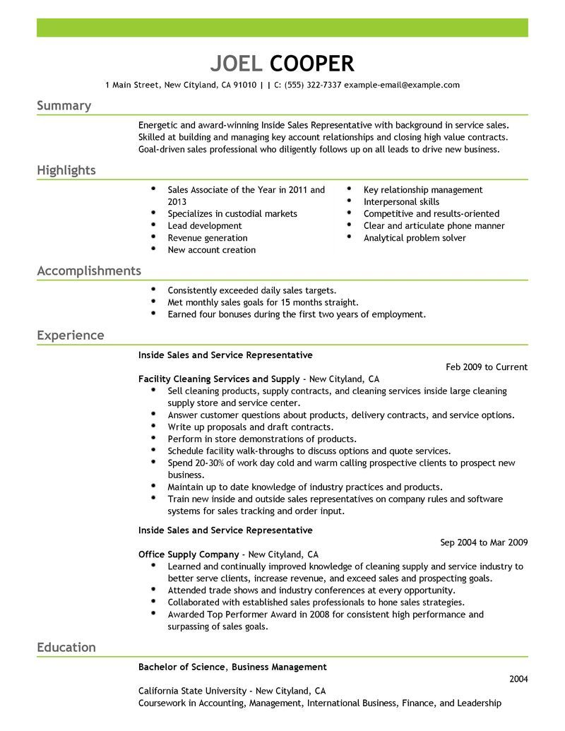 Pin by Andy on resume Good resume examples, Sales resume