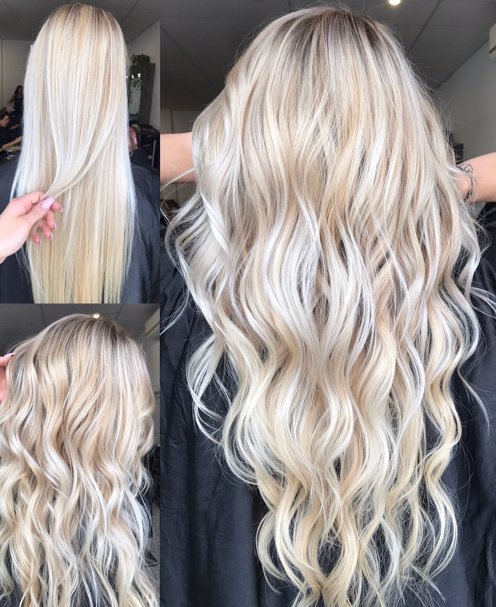 Platinum Blonde Balayage Hair Color Idea: Blonde Balayage, Long Hair, Cool Girl Hair ϸ� Lived In Hair