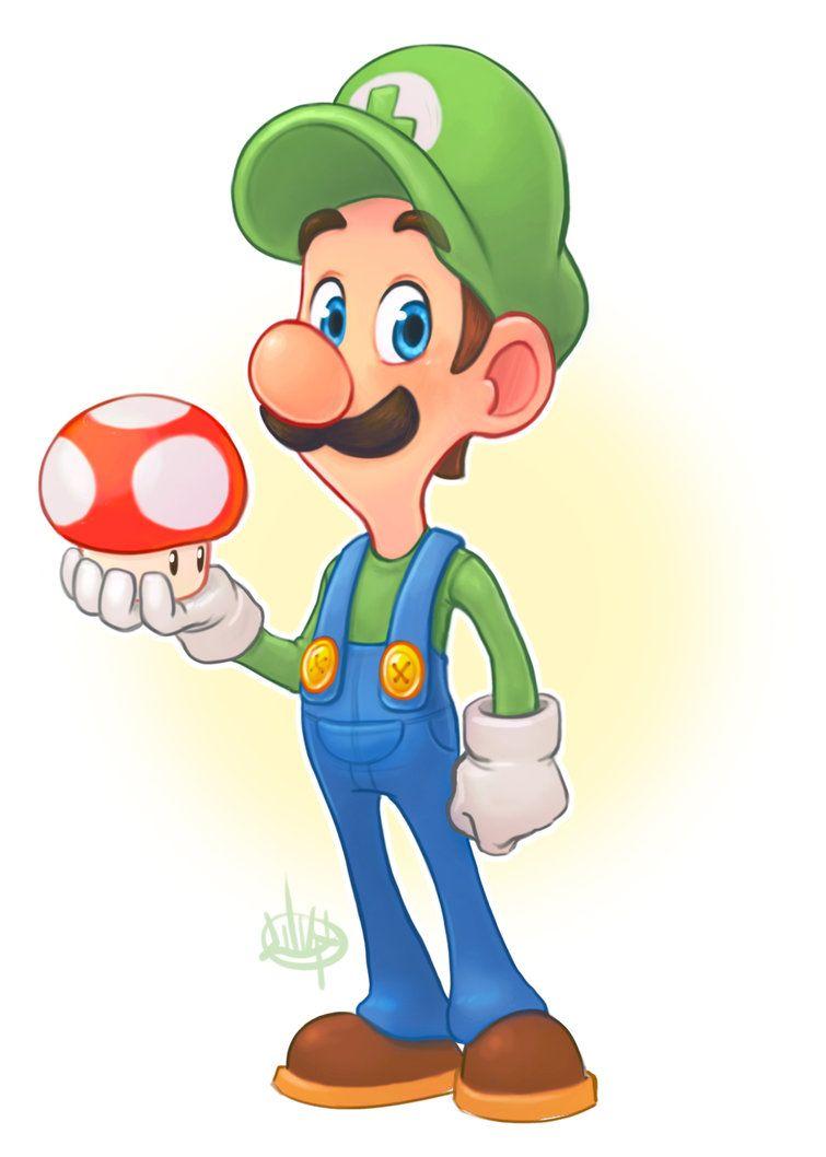 Luigi and a Mushroom by LuigiL | Toon Anatomy Reference | Pinterest ...