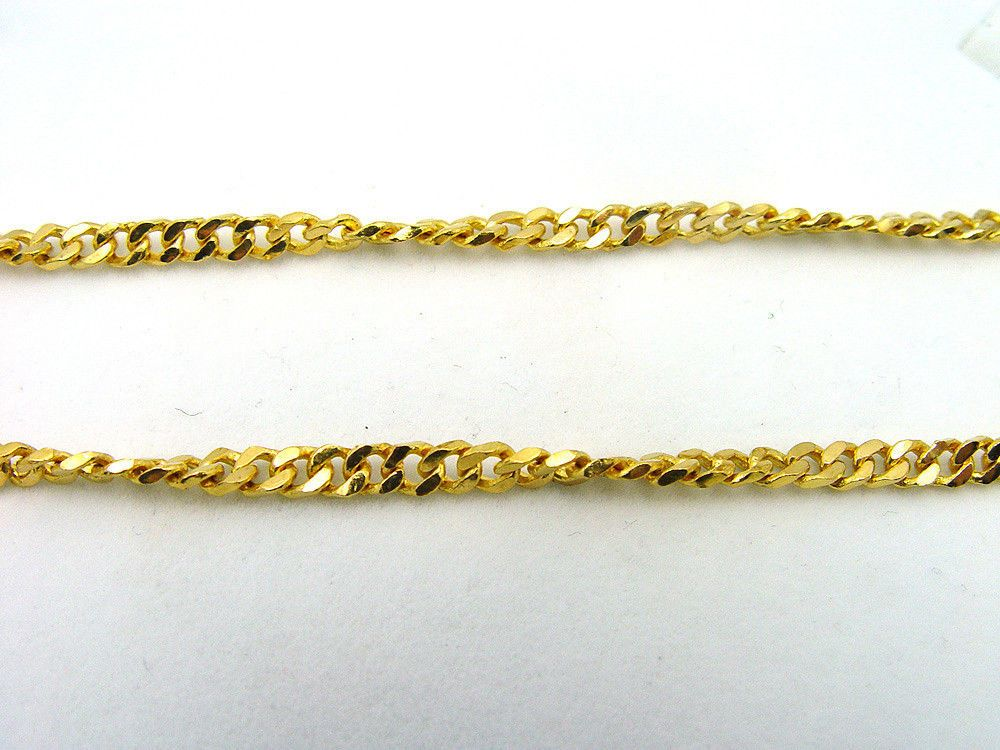 """Mens Solid Heavy 24K Gold Plated Cuban Curb Necklaces Link Chain 24/""""x7mm Jewelry"""