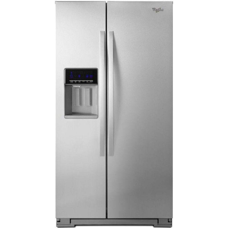 Whirlpool Wrs571cidm 20 6 Cu Ft Side By Side Refrigerator In