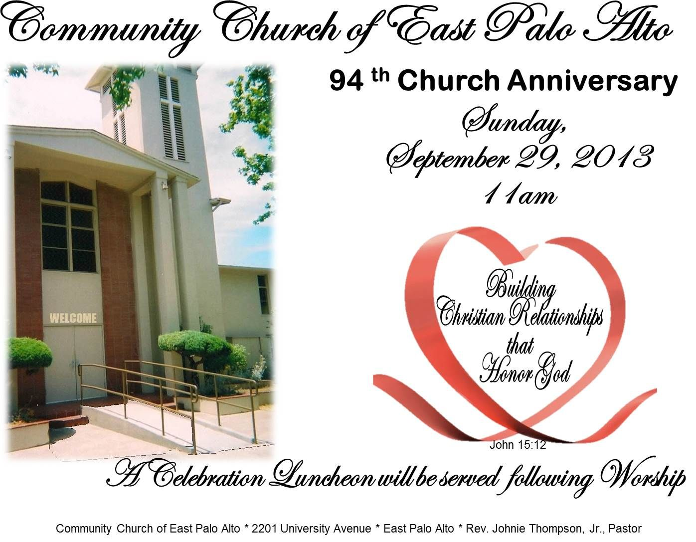 Church Anniversary Journal Cover Ideas - Invitation Templates ...