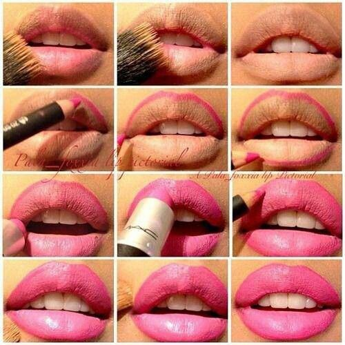 How To Apply Lipstick Step By