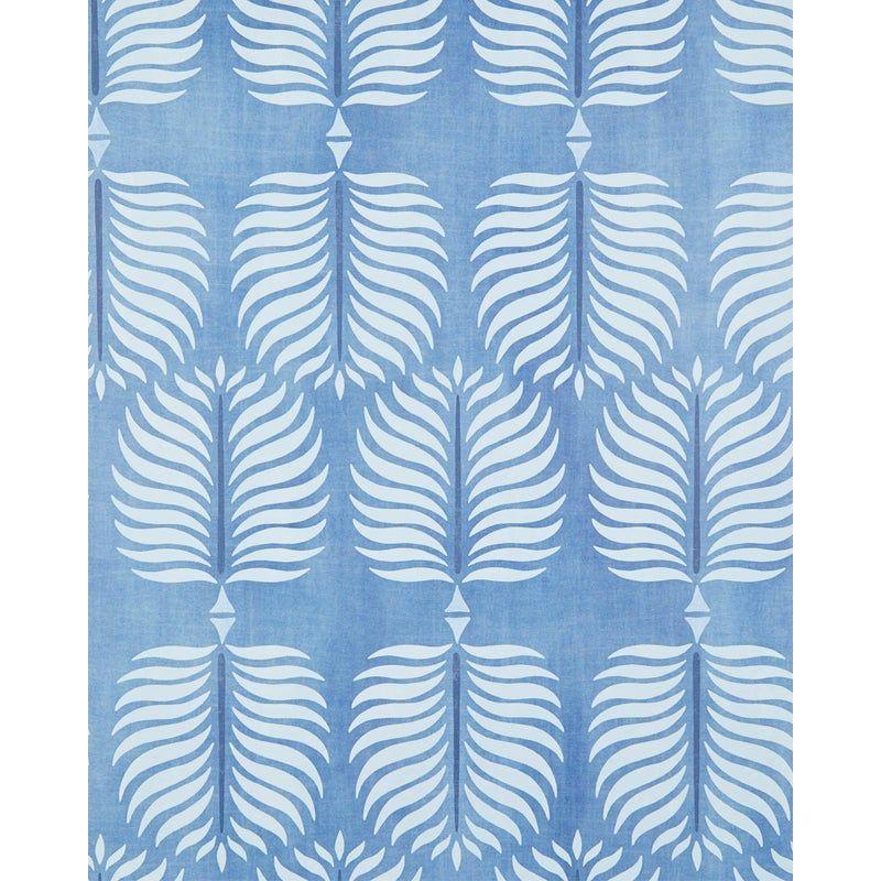 Serena & Lily Granada Palm Leaf Print Blue Wallpaper in
