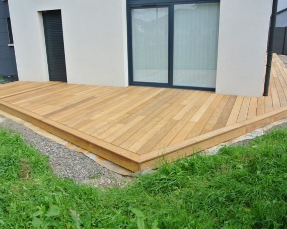 Terrasse Bois Exotique Garapa 70 M2 Garden Deck Outdoor