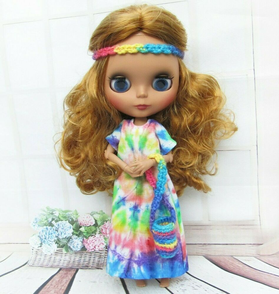 Handmade Party Dress For Blythe Doll Clothes For 1//6 BJD Dolls Gift For Girl