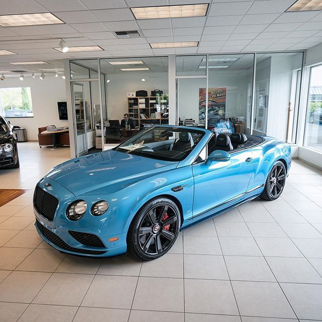 Nice Blue Color On This Bentley Continental GT Convertible