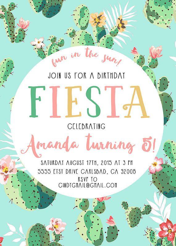 Fiesta birthday party invitation cactus boho printable invites fiesta birthday party invitation cactus boho printable invites 573 filmwisefo Images