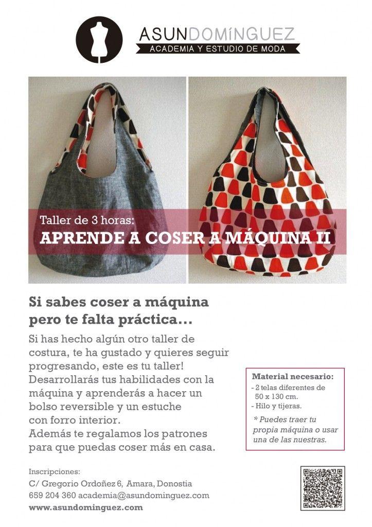Taller COSTURA continuación | Cursos Academia Asun Domínguez | Pinterest