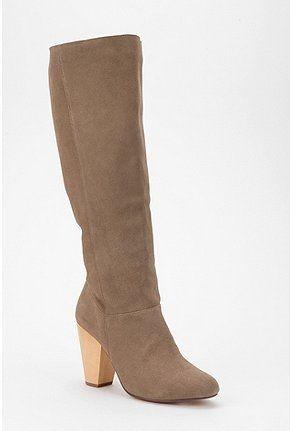Kimchi Blue Tall Suede Wood Heel Boot - StyleSays
