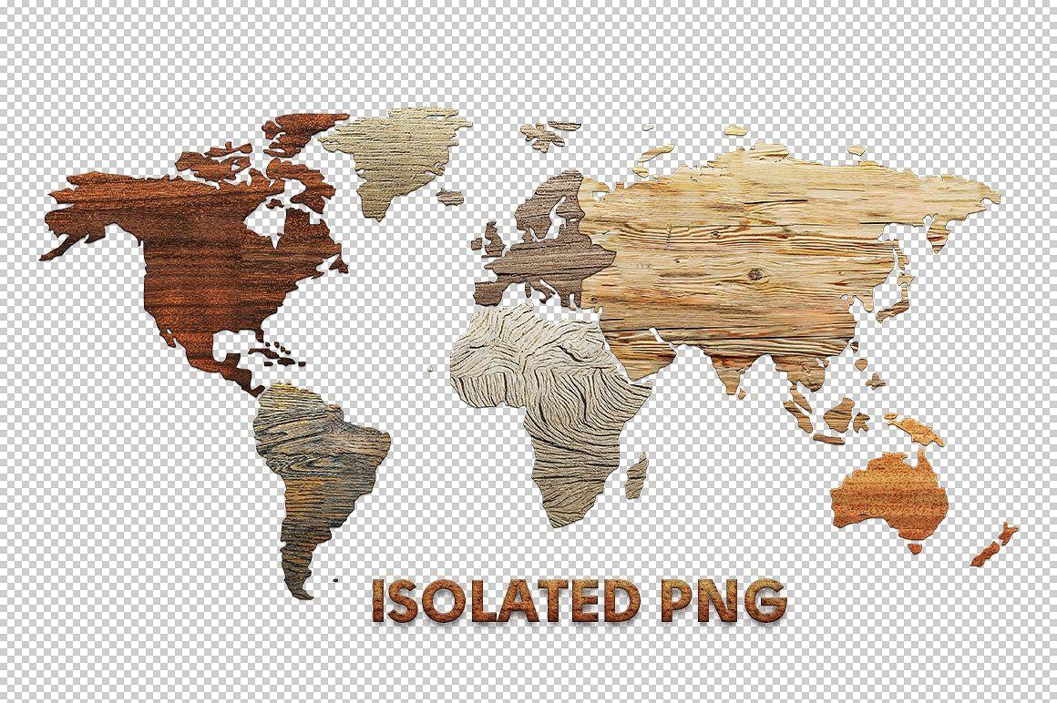 Wooden World Map Pack design, Graphic, Web design