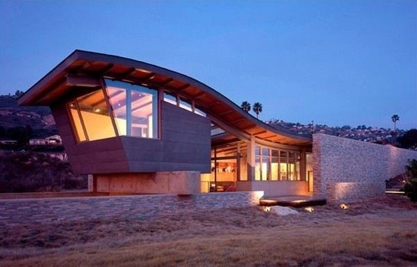 Curved Roof Home Reviews Modern Roof Design Beach House Design Roof Design