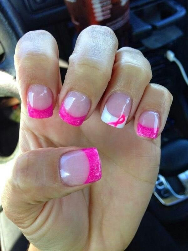 Breast cancer nails | nails | Pinterest | Breast cancer nails ...