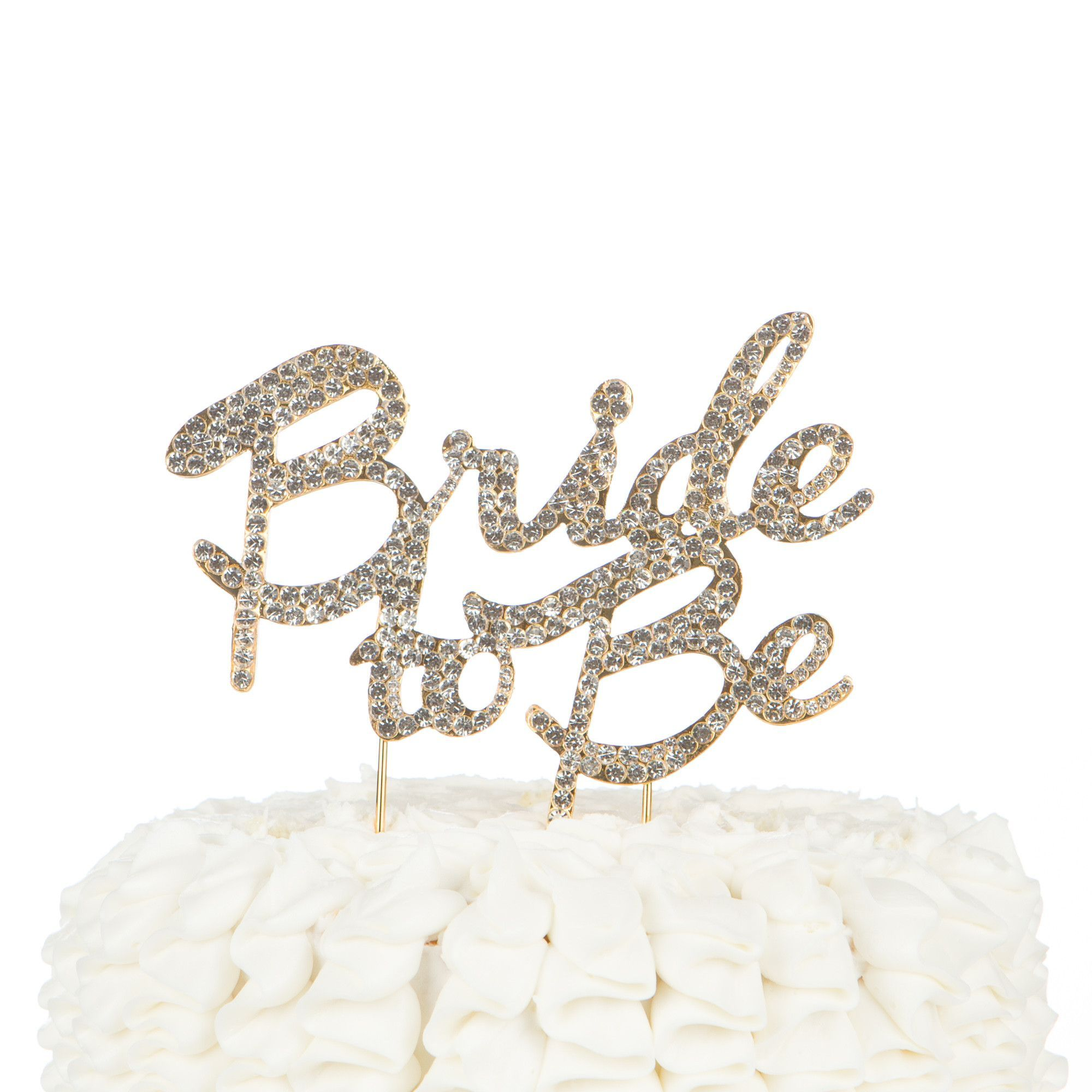 Ella celebration bride to be cake topper gold 1