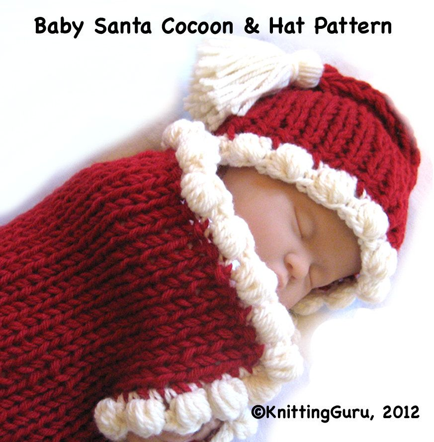 Baby Knitting Pattern - Cocoon Hat Bunting - Fast Easy PDF ...