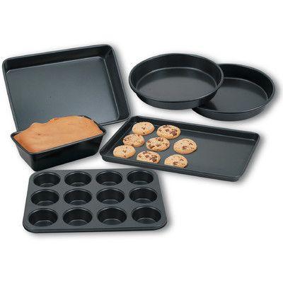 Cook N Home NC-00201 Bakeware 6 Piece Heavy Gauge Nonstick Bakware Set
