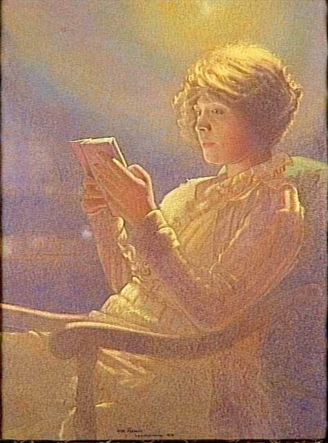Mulher lendo, 1921  Léon Kamir Kaufman ( Polônia 1872-1933)  Óleo sobre tela  Museu d'Orsay, Paris