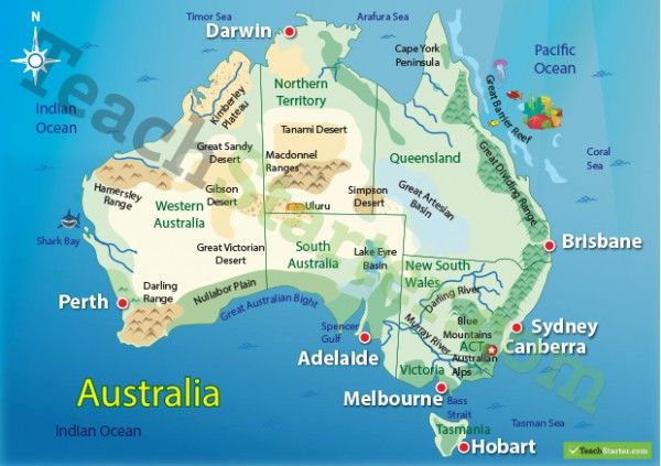 Map Of Asia Landforms.Australian Landform Map Hsie Teaching Geography Asia Map