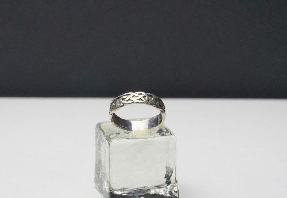 9ct White Gold Celtic Design Wedding Band White Gold Ring