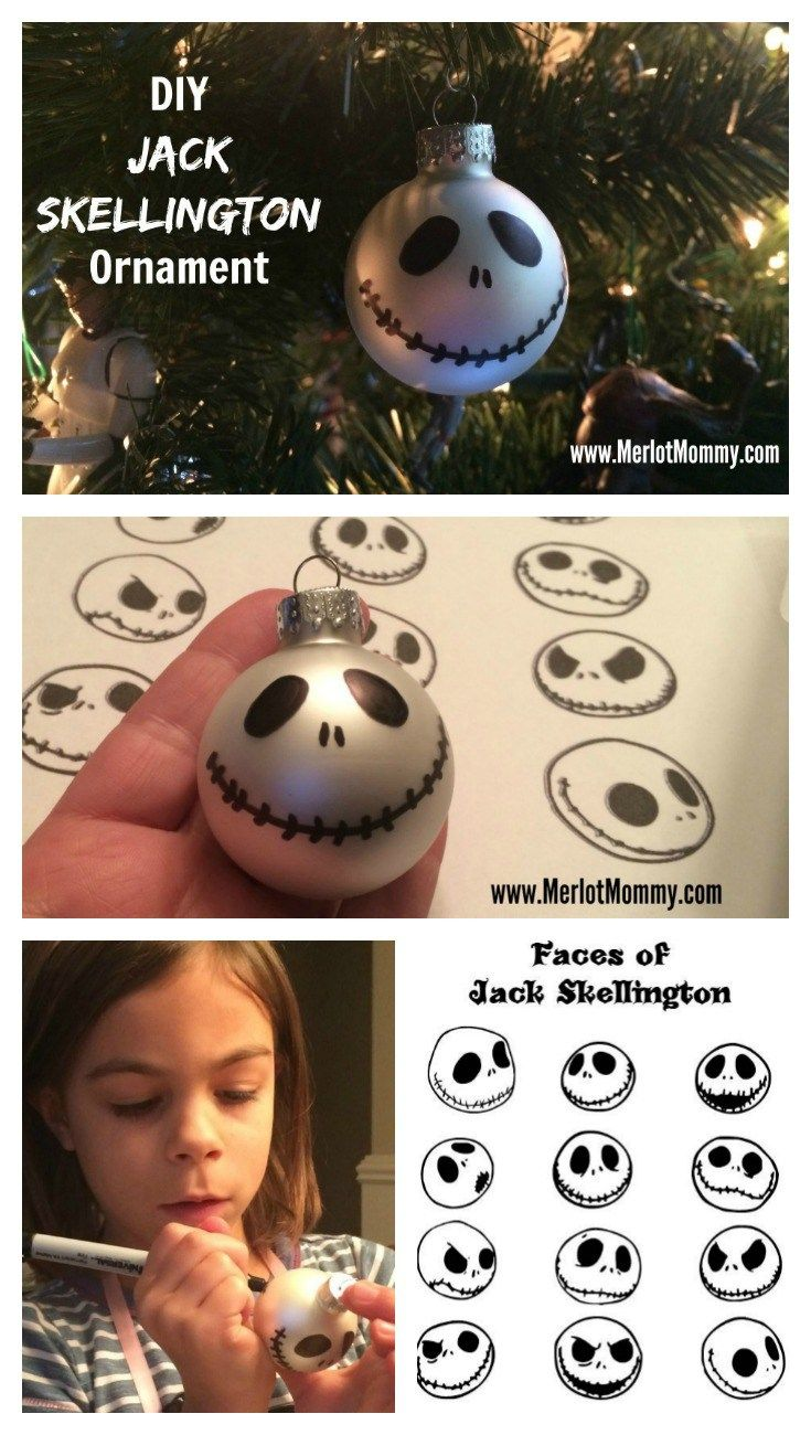 Diy Jack Skellington Ornaments Jackskellington Nightmare Before