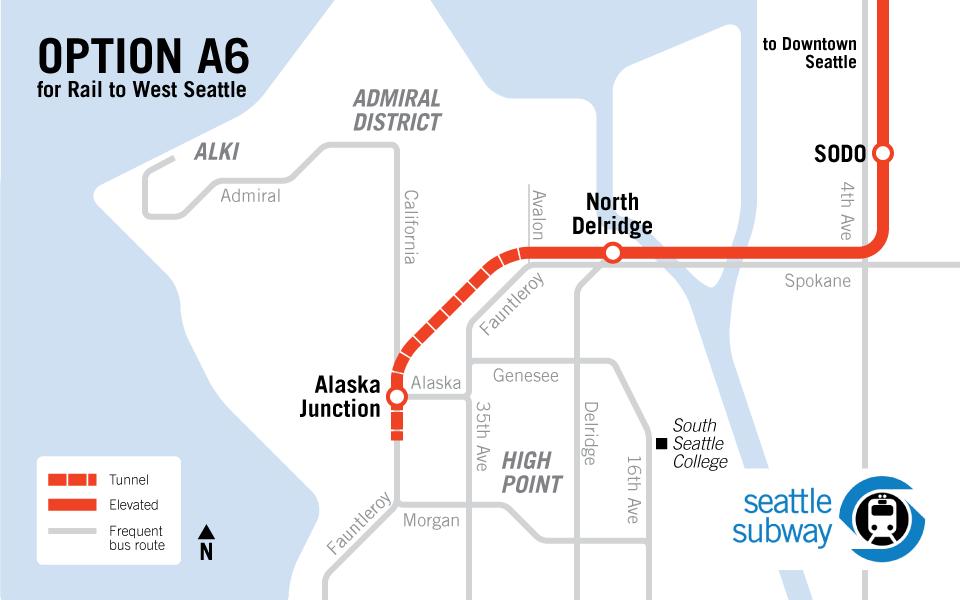 West Seattle LRT Route Map Transit Pinterest West seattle