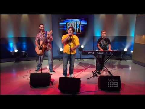 Axis of Awesome playing live on the Footy Show with their brilliant ...