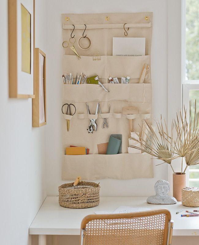 6 rangements muraux en tissu DIY