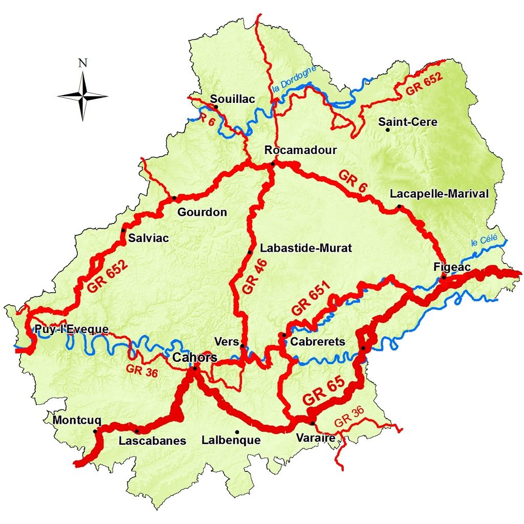 Les Itineraires De Grande Randonnee Et Le Chemin De St Jacques Site Officiel Du Tourisme Dans Le Lot Chemin De Compostelle Randonnee Randonnee Pedestre