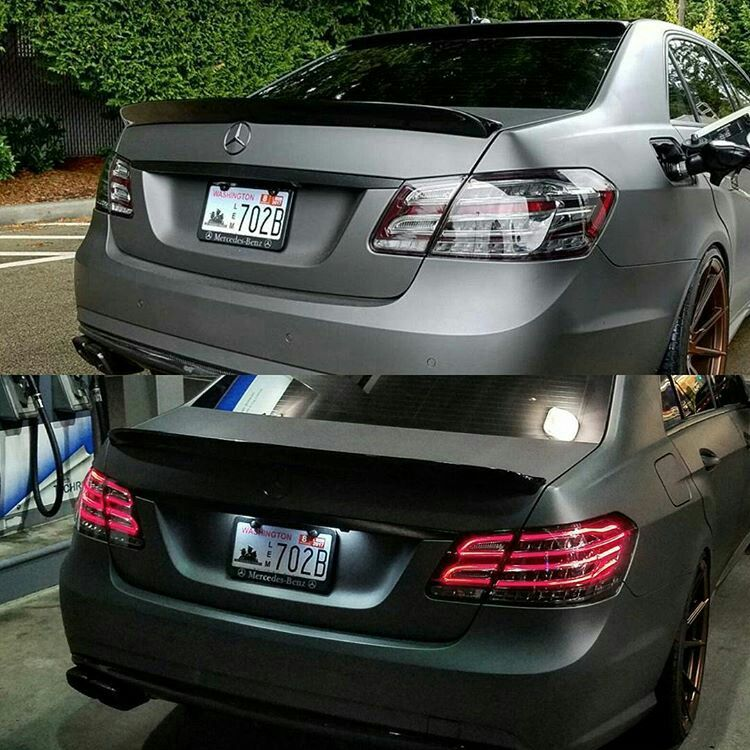Before (bottom) & After Mercedes-Benz E63 AMG #modified | Auto ...