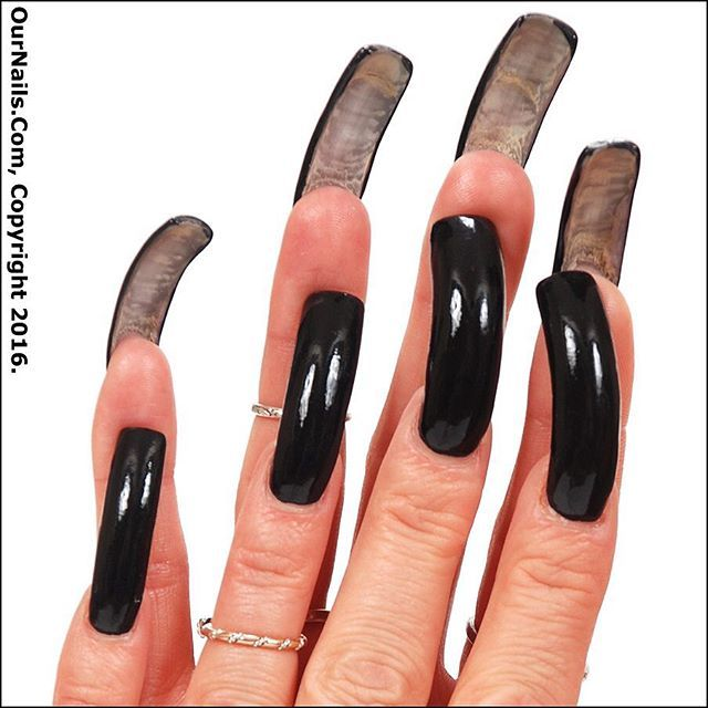 My nails polished in black with a peek at my undersides! #nails #longnails #nailswag #naillife #notd #nailsoftheday #prettynails #frenchmanicure #feet #nailfetish #claws #longtoenails #sexynails #nailselfie #nailstagram #nailsofinstagram #nails2inspire #nailart #nailsdone #nailslove #ilovenails #longnailsdontcare #ournails #footfetish #beauty #style #kylienails #kylie #toenails #tammytaylornails