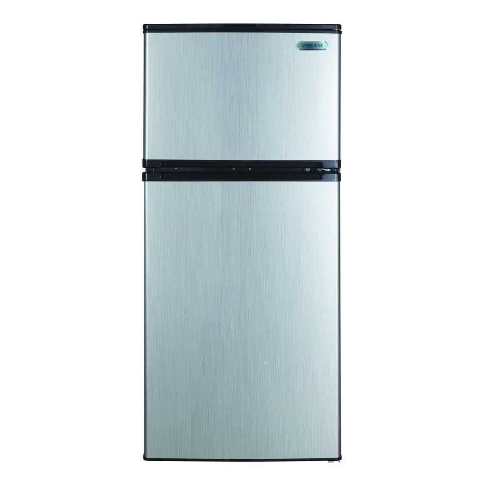 Home Depot Fridges Canada Magic Chef 4 3 Cu Ft Mini Fridge In Stainless Look Hvdr430se