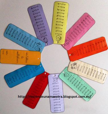 """Rincón de una maestra: """"Cuaderno Tablas de multiplicar"""""""