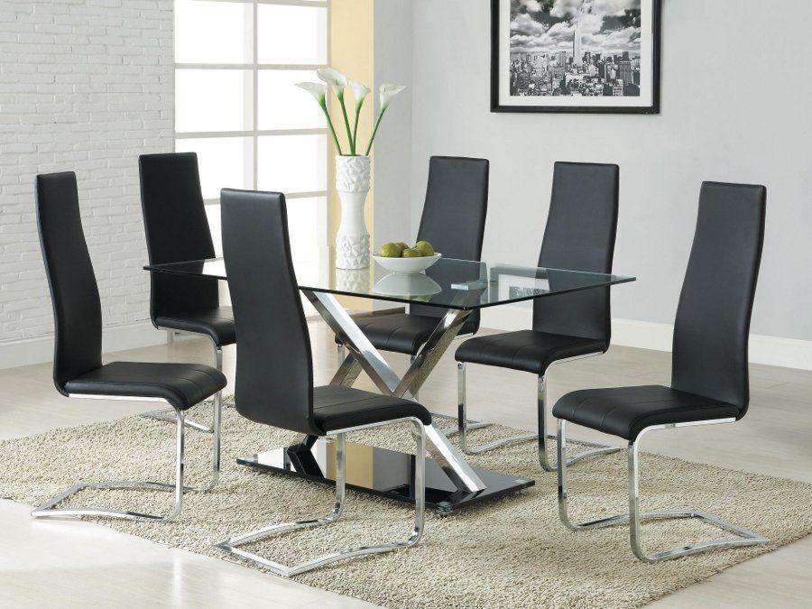 X Design Black 5pc Set Modern Dining Room Tables Modern