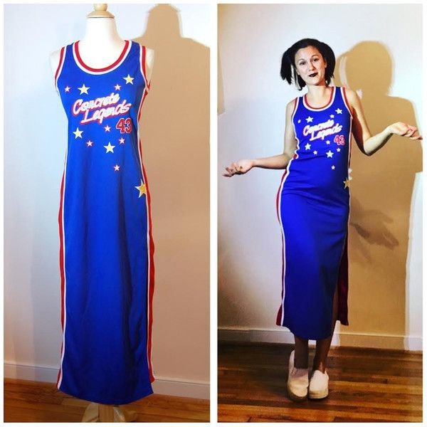 90s Jersey Dress By Concrete Legends Blue Basketball Athletic Hip Hop Form Fitting Sleeveless Dress Number 43 Si Jersey Dress Clothes Design Form Fitting Dress
