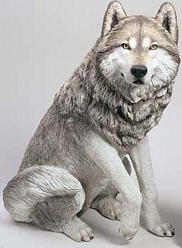 Yard Art: Life Size Wolf Garden Statue
