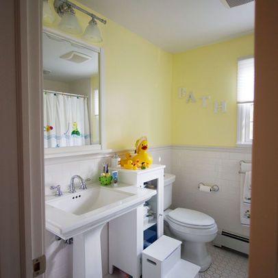 like this pedestal sink for half bath   bathroom kids