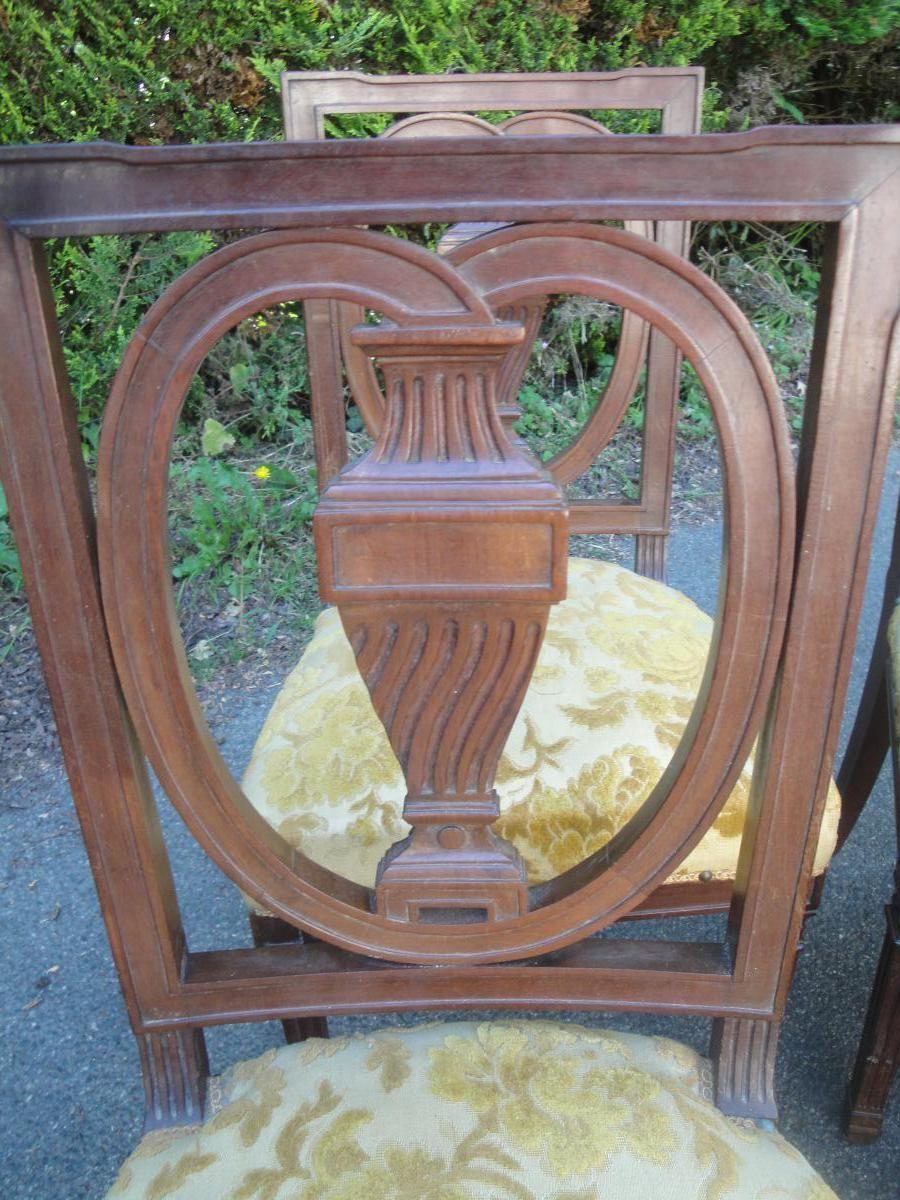 Suite De 6 Chaises En Acajou Style Louis XVI - chaises - tabourets