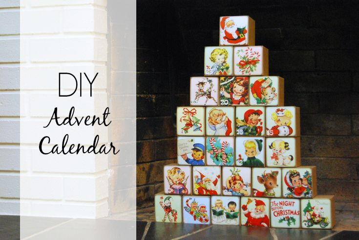 Diy Calendar Michaels : Diy vintage advent calendar adventskalender pinterest