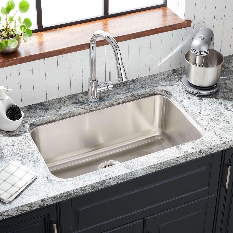 30 Calverton Stainless Steel Undermount Kitchen Sink Stainless Steel Kitchen Sink Undermount Undermount Kitchen Sinks Sinks Kitchen Stainless